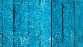 Nahtloses Blau gemalte alte Beschaffenheit der hölzernen Bretter Stockbild