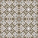 Nahtloses Blau, Tan u. Grey Damask Wallpaper Pattern Stockfotos