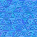 Nahtloses blaues buntes Triangulate Muster vektor abbildung