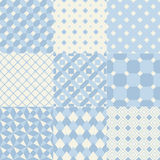 Nahtloses blaues geometrisches Muster Lizenzfreies Stockbild