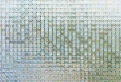 Nahtloses blaues Glas deckt Beschaffenheitshintergrund mit Ziegeln Stockbild