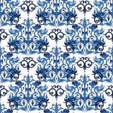 Nahtloses blaues Muster Stockbild