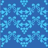 Nahtloses blaues Muster, Auslegungabbildung - 2 Stockbilder
