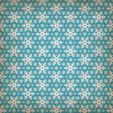 Nahtloses blaues Muster mit Schneeflocken. Lizenzfreies Stockfoto