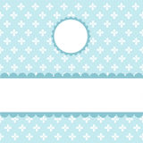 Nahtloses blaues Muster, Tapete Stockbilder