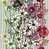 Nahtloses Blumen-Muster Lizenzfreies Stockbild