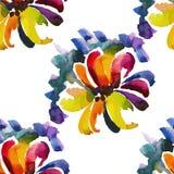 Nahtloses Blumenaquarellmuster 8 Lizenzfreies Stockbild