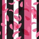 Nahtloses Blumenblattblumenmuster und geometrischer Zusammensetzungshintergrundvektor Stockfotografie
