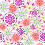 Nahtloses Blumenblumenmuster Lizenzfreie Stockfotografie