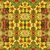 Nahtloses Blumenmuster, Ölgemälde Lizenzfreies Stockbild
