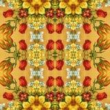 Nahtloses Blumenmuster, Ölgemälde Lizenzfreie Stockfotografie