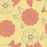 Nahtloses Blumenmuster stock abbildung