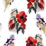 Nahtloses Blumenmuster Stockfotografie