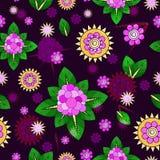 Nahtloses Blumenmuster Auch im corel abgehobenen Betrag Lizenzfreie Stockfotografie