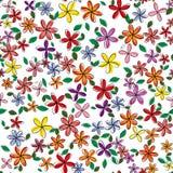 Nahtloses Blumenmuster Auch im corel abgehobenen Betrag Stockbilder