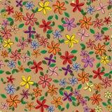 Nahtloses Blumenmuster Auch im corel abgehobenen Betrag Stockfotografie