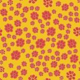 Nahtloses Blumenmuster blüht Beschaffenheitshintergrund vektor abbildung