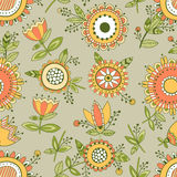 Nahtloses Blumenmuster, dekorativer Hintergrund Stockfotos