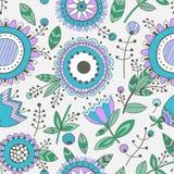 Nahtloses Blumenmuster, dekorativer Hintergrund Stockfotografie