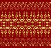 Nahtloses Blumenmuster in der orientalischen Art Lizenzfreies Stockbild