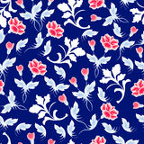 Nahtloses Blumenmuster ENV 10 Lizenzfreies Stockbild