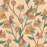 Nahtloses Blumenmuster. Hintergrund Stockbilder