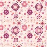 Nahtloses Blumenmuster im Rosa Lizenzfreies Stockfoto