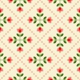 Nahtloses Blumenmuster mit abstrakten Blumen Lizenzfreie Stockfotos