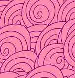 Nahtloses Blumenmuster mit abstrakten rosa Rosen. Stockfoto