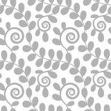 Nahtloses Blumenmuster mit Blättern Lizenzfreies Stockfoto