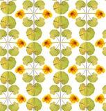 Nahtloses Blumenmuster mit gelben Blumen Stockbild