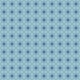 Nahtloses Blumenmuster mit geometrischen stilisierten Blumen. Stock Abbildung