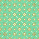 Nahtloses Blumenmuster mit geometrischen stilisierten Blumen. Stockfotos