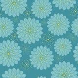 Nahtloses Blumenmuster mit geometrischen stilisierten Blumen. Stockfotografie