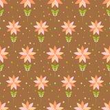 Nahtloses Blumenmuster mit geometrischen stilisierten Blumen. Vektor Abbildung