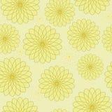 Nahtloses Blumenmuster mit geometrischen stilisierten Blumen. Lizenzfreie Stockfotografie