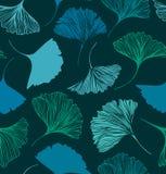 Nahtloses Blumenmuster mit Ginkgoblättern Vektorgraphikhintergrund stock abbildung