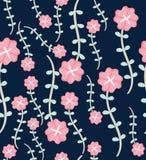 Nahtloses Blumenmuster mit heller bunter Blume wilde Blüte, nahtloses Hintergrundmuster der breiten Weinlese lizenzfreies stockfoto
