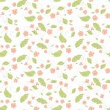 Nahtloses Blumenmuster mit kleinen Blumen Stockbild