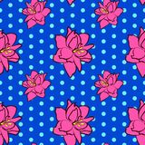 Nahtloses Blumenmuster mit rosa Amaryllisblumen stock abbildung