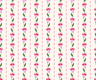 Nahtloses Blumenmuster mit rosa Blumen. Stockfotografie