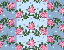 Nahtloses Blumenmuster mit schönen Rosen Lizenzfreies Stockfoto