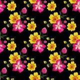 Nahtloses Blumenmuster mit tropischen Blumen Stockbild