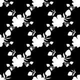 Nahtloses Blumenmuster mit tropischen Blumen Stockfoto