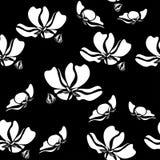 Nahtloses Blumenmuster mit tropischen Blumen Weinlesedruck Lizenzfreie Stockfotos