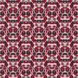Nahtloses Blumenmuster mit Tulpen, Mohnblumen und Lilien Komplexer Vektordruck in Burgunder, grau, schwarz und rosa lizenzfreie abbildung