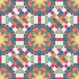 Nahtloses Blumenmuster Patchworkbeschaffenheit mosaik Stockfoto