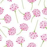 Nahtloses Blumenmuster, rosa Blumenvektorhintergrund für dekorativen Designgebrauch stock abbildung