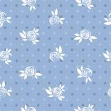 Nahtloses Blumenmuster, Rosen und Kreise, Weinlese Lizenzfreie Stockbilder