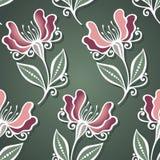 Nahtloses Blumenmuster (Vektor) Stockfotos